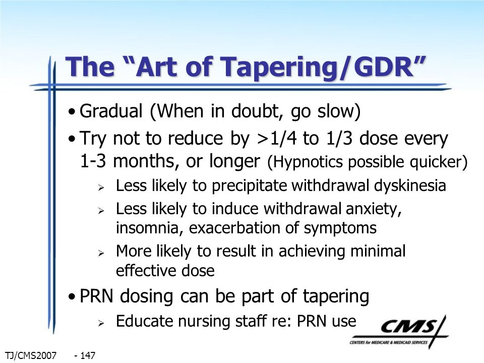 The Art of Tapering/GDR