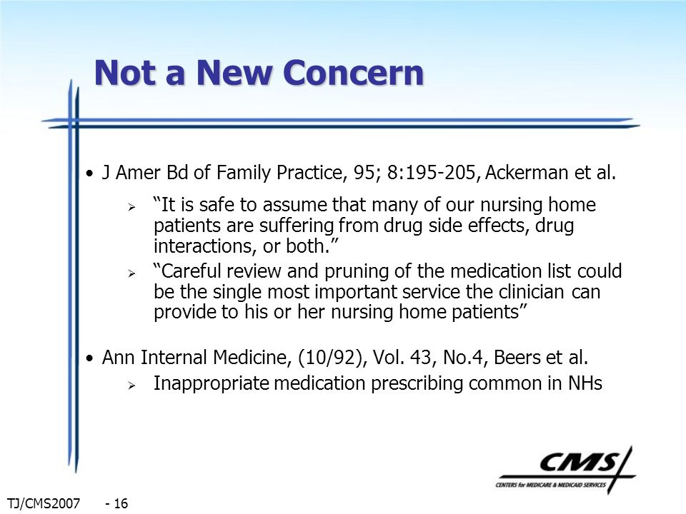 Not a New Concern J Amer Bd of Family Practice, 95; 8:195-205, Ackerman et al.