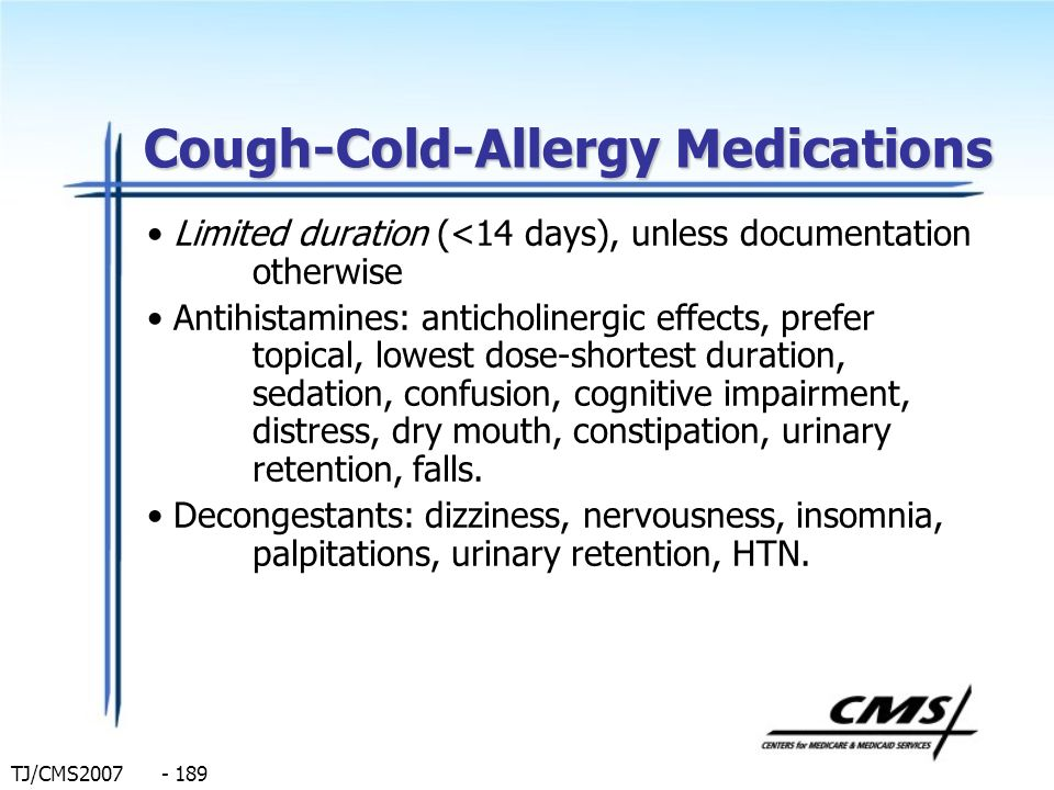 Cough-Cold-Allergy Medications
