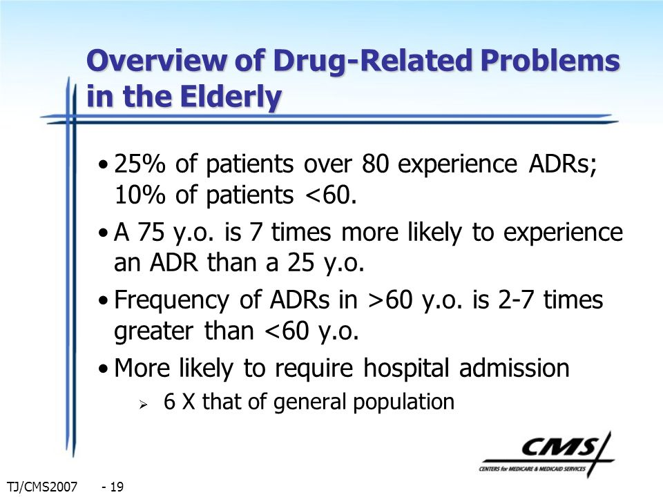 Overview of Drug-Related Problems in the Elderly