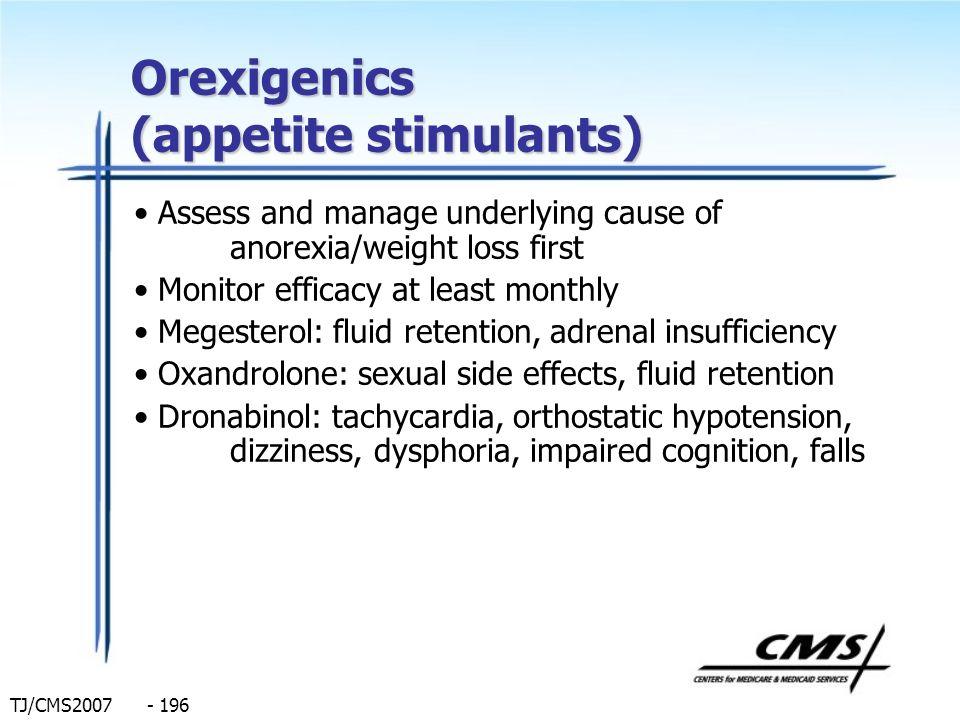 Orexigenics (appetite stimulants)