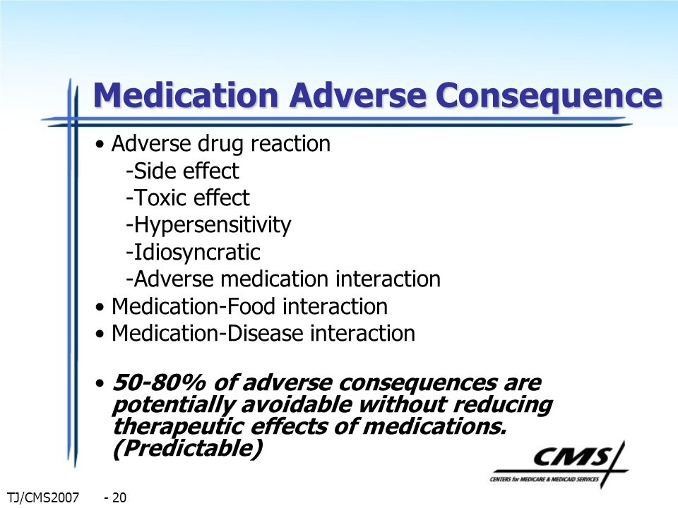 Medication Adverse Consequence