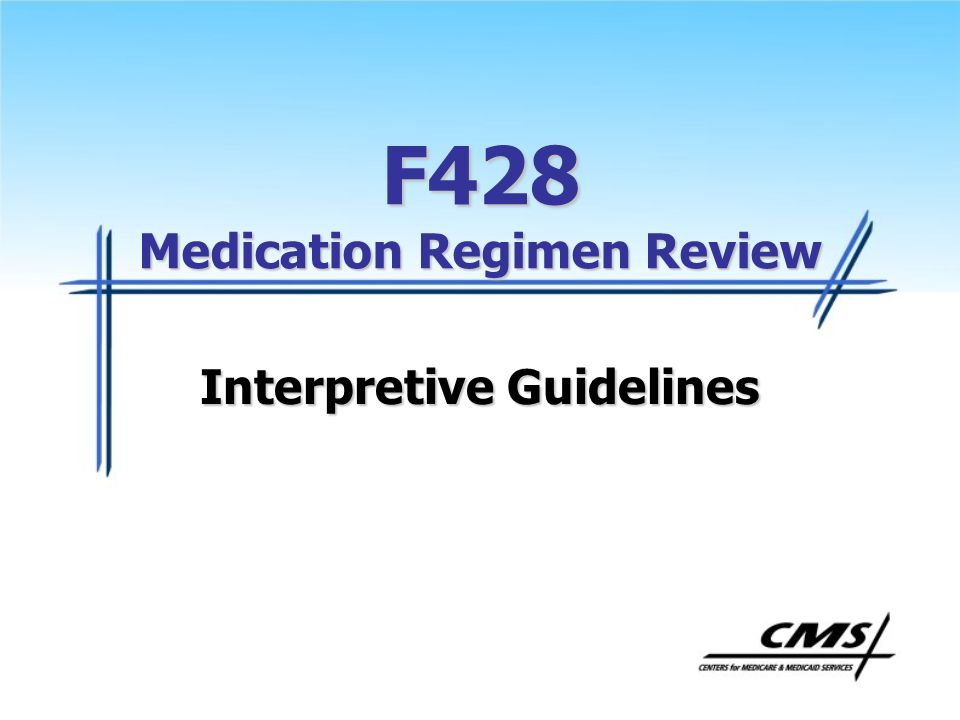 F428 Medication Regimen Review