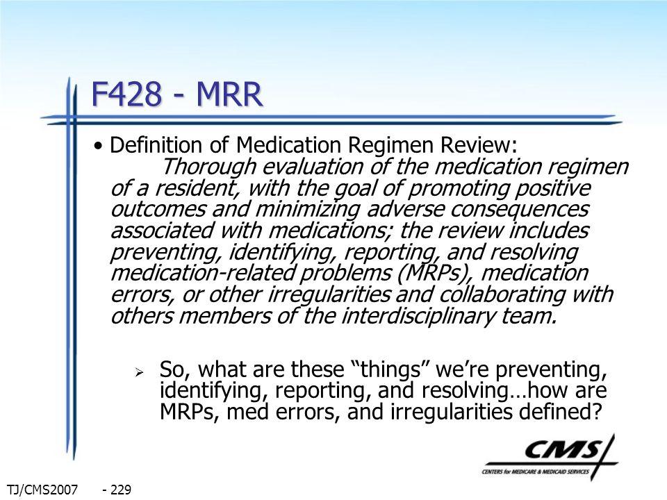 F428 - MRR