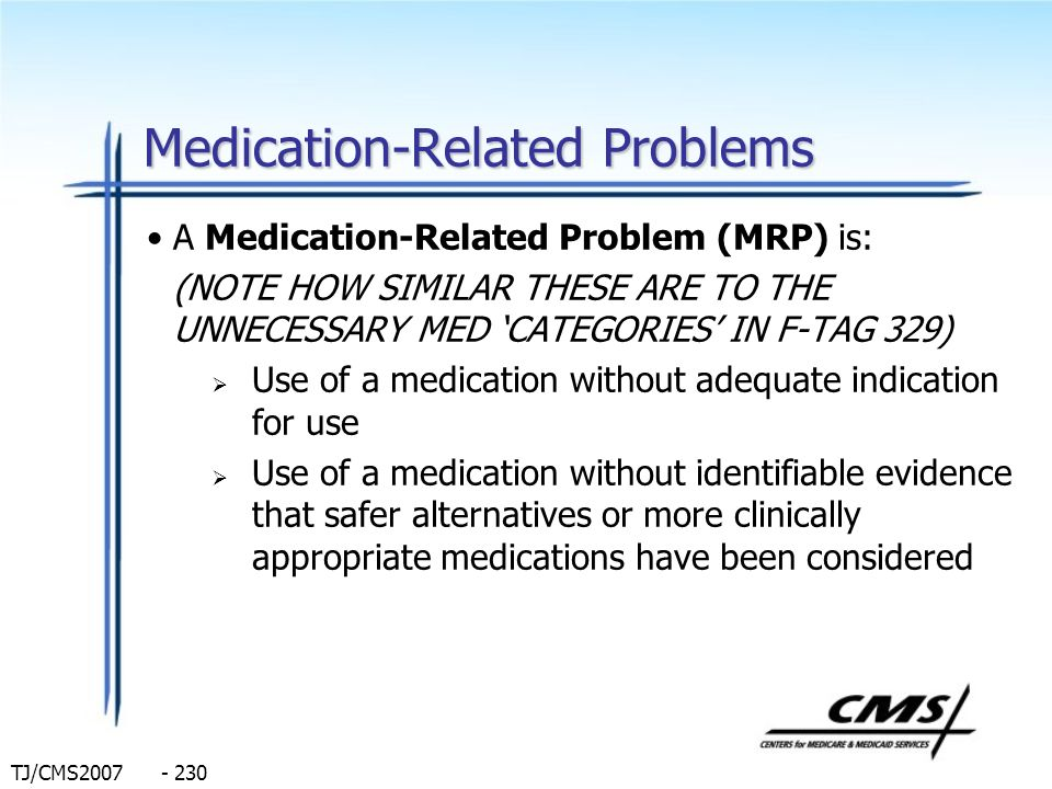 Medication-Related Problems