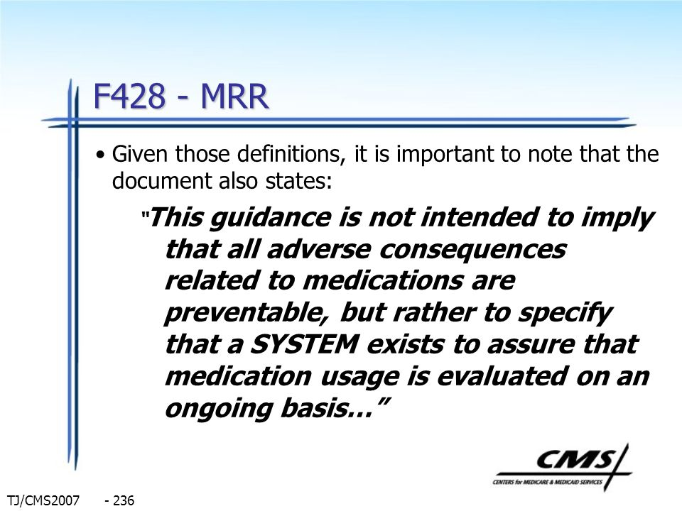 F428 - MRR Given those definitions, it is important to note that the document also states: