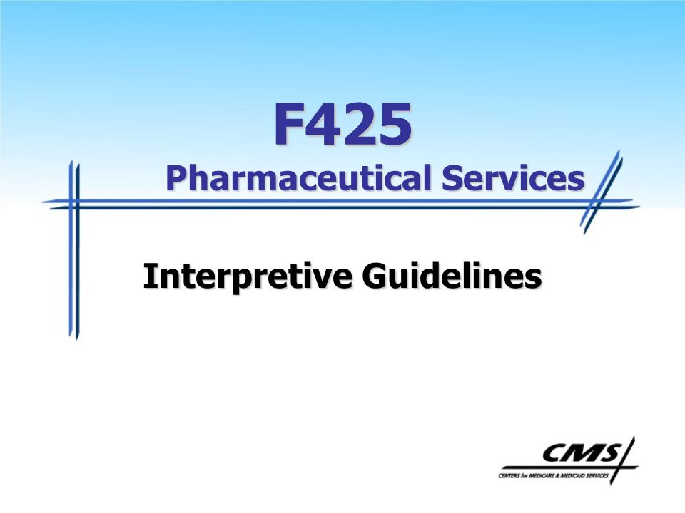 F425 Pharmaceutical Services