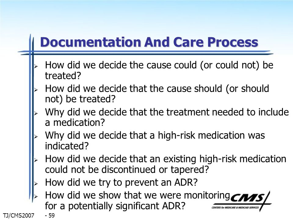 Documentation And Care Process