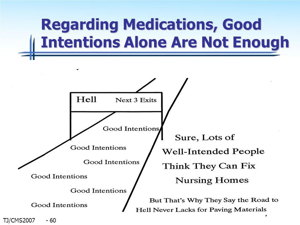 Regarding Medications, Good Intentions Alone Are Not Enough