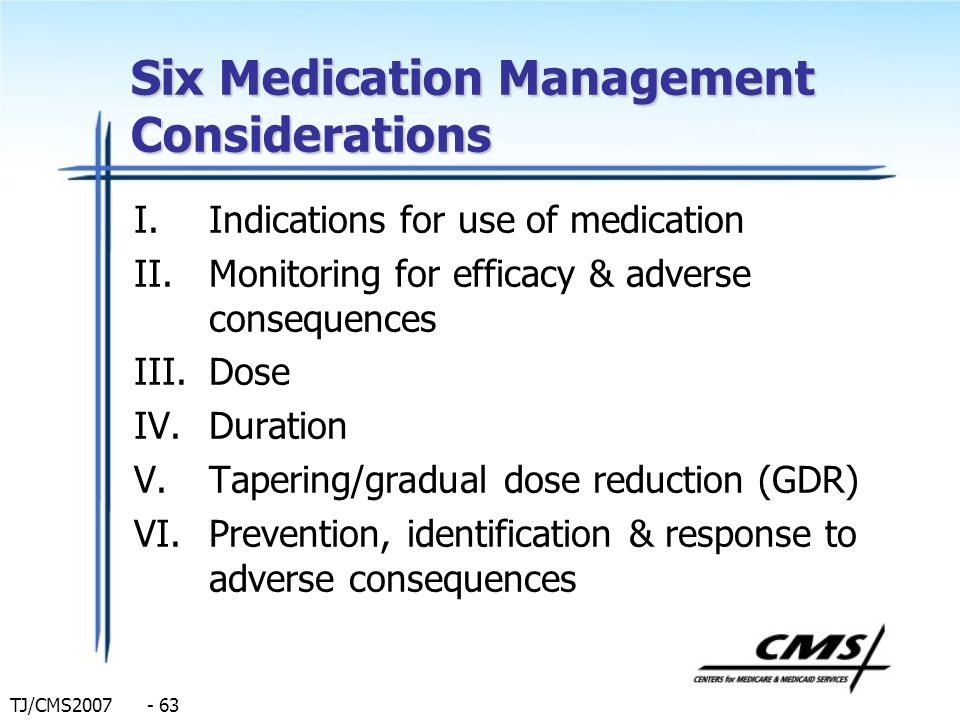 Six Medication Management Considerations