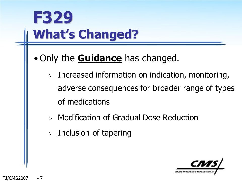 F329 What's Changed Only the Guidance has changed.