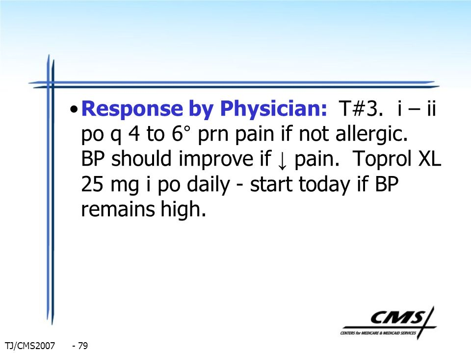 Response by Physician: T#3
