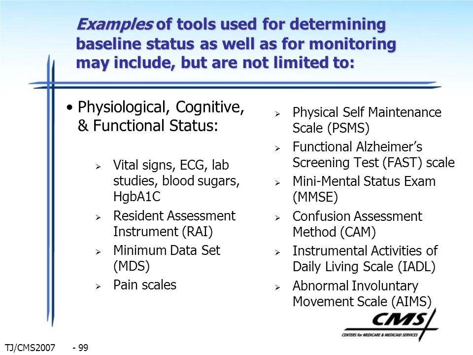 Examples of tools used for determining