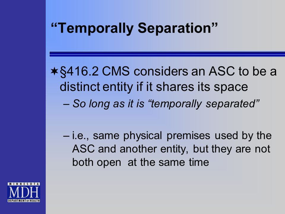Temporally Separation