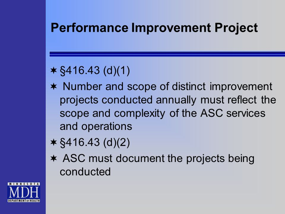 Performance Improvement Project