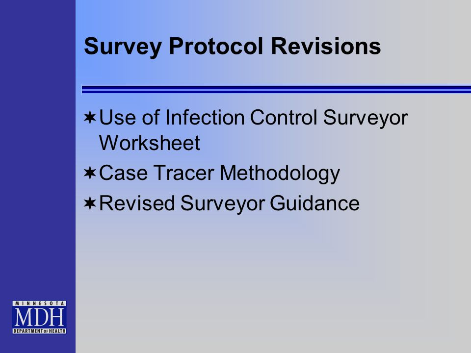 Survey Protocol Revisions
