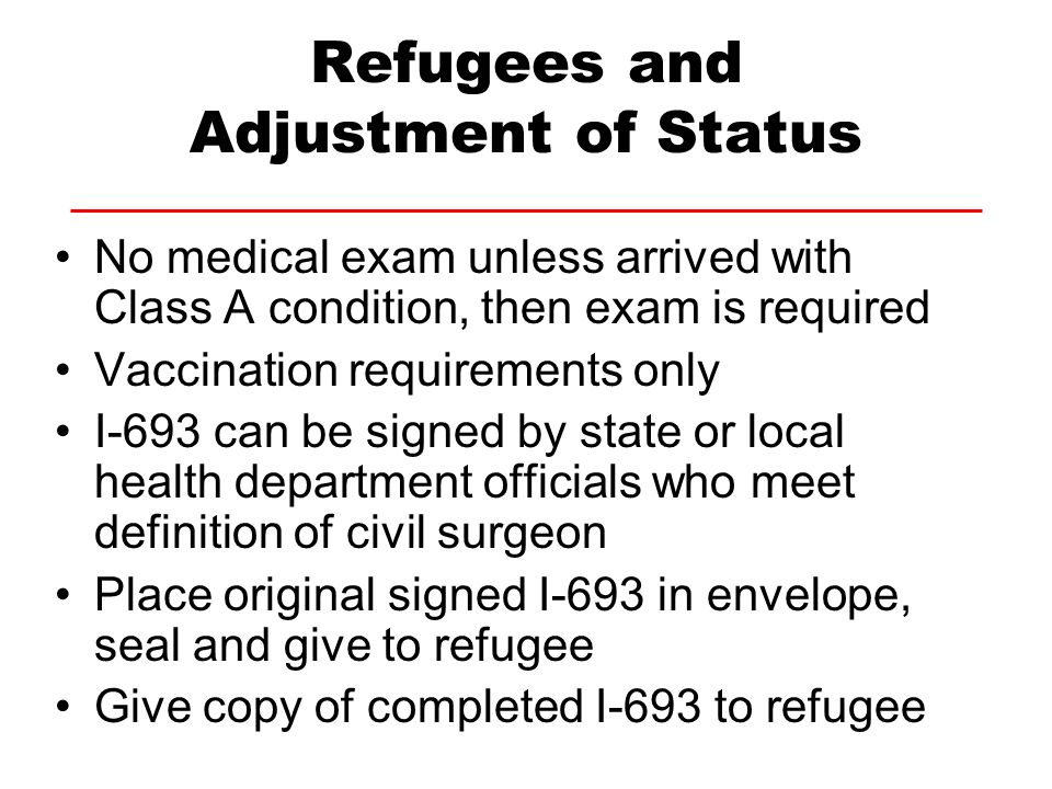 Refugees and Adjustment of Status