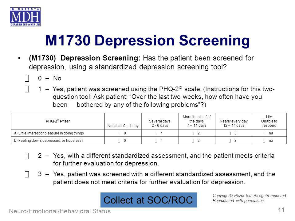 M1730 Depression Screening