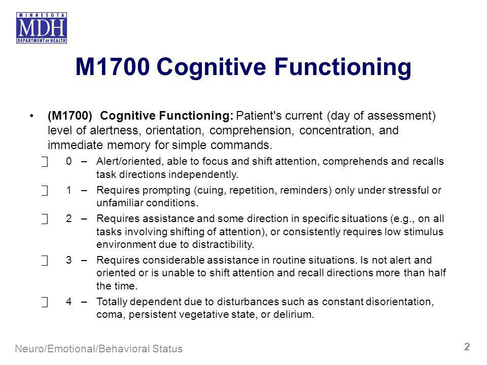 M1700 Cognitive Functioning
