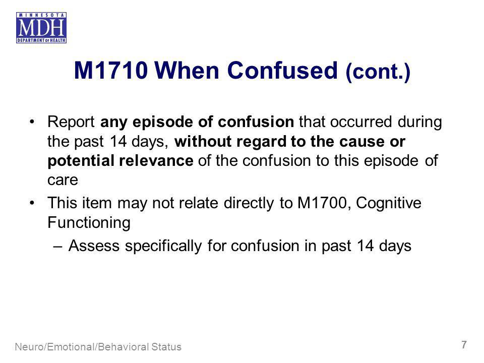 M1710 When Confused (cont.)