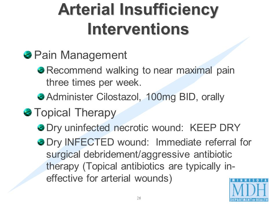 Arterial Insufficiency Interventions