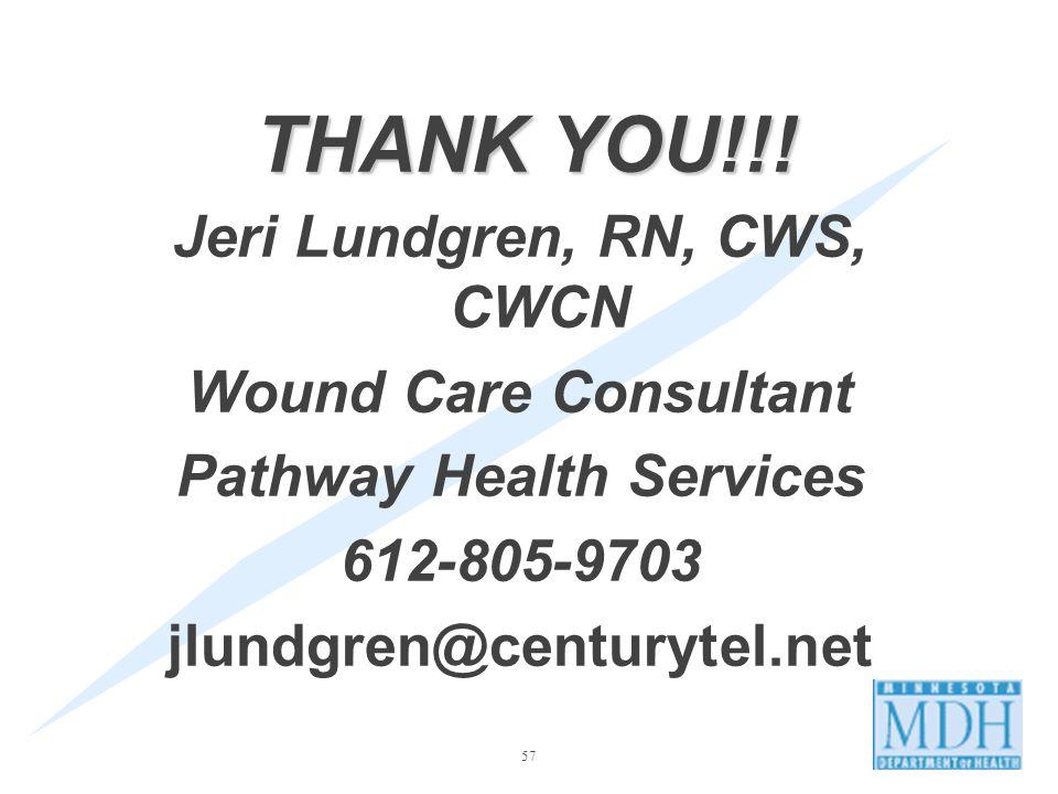Jeri Lundgren, RN, CWS, CWCN Pathway Health Services