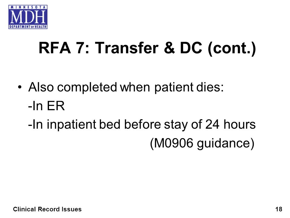 RFA 7: Transfer & DC (cont.)