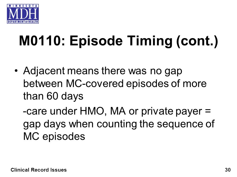 M0110: Episode Timing (cont.)