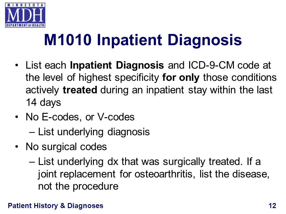 M1010 Inpatient Diagnosis