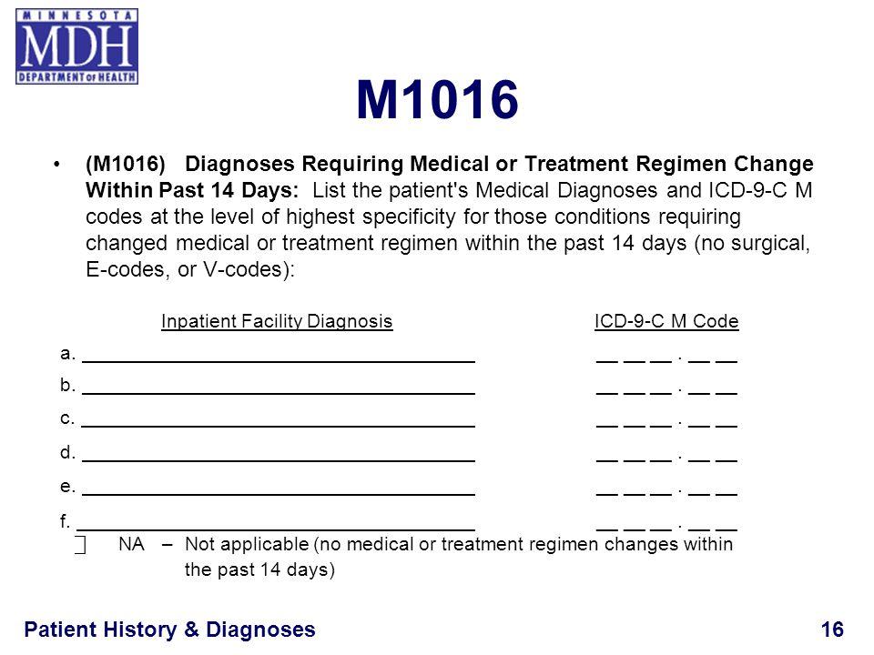 Inpatient Facility Diagnosis