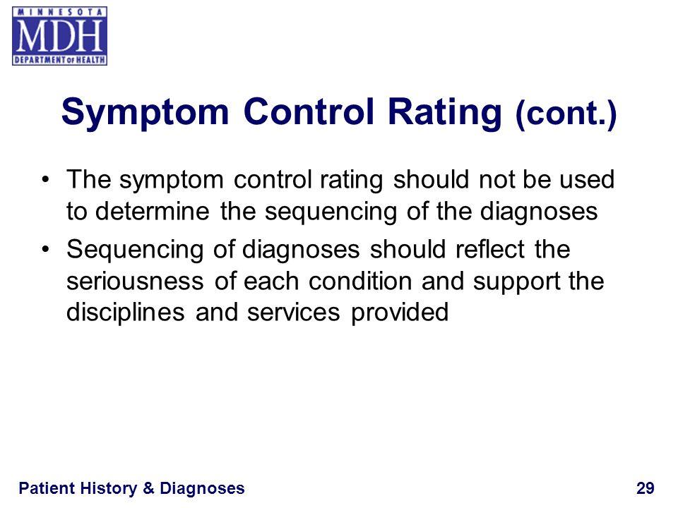 Symptom Control Rating (cont.)