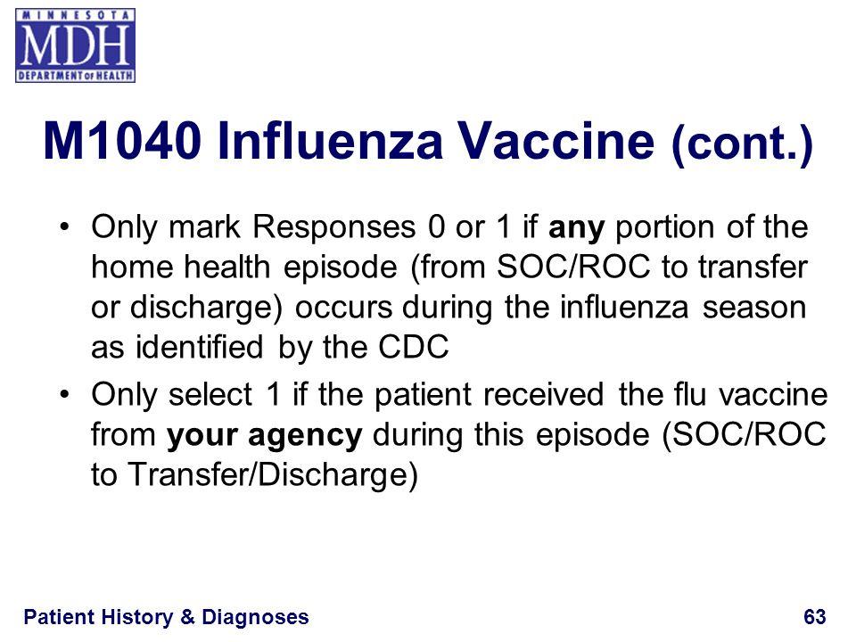 M1040 Influenza Vaccine (cont.)
