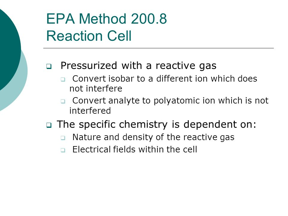 EPA Method 200.8 Reaction Cell
