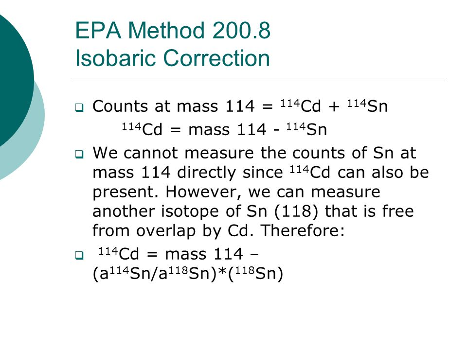 EPA Method 200.8 Isobaric Correction