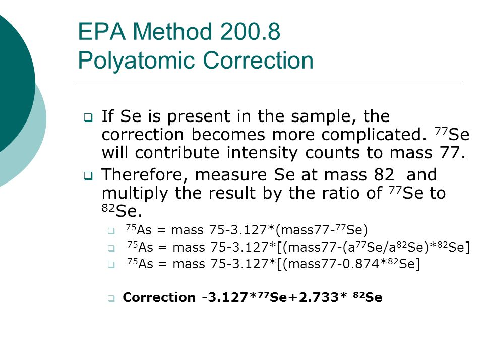 EPA Method 200.8 Polyatomic Correction