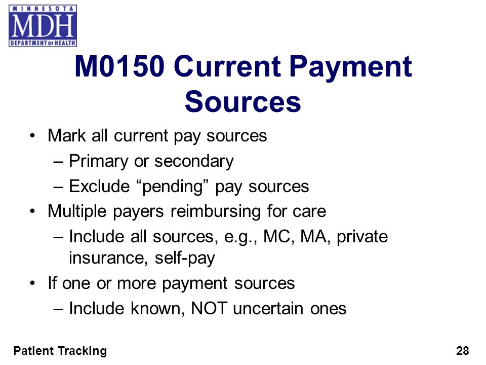 M0150 Current Payment Sources