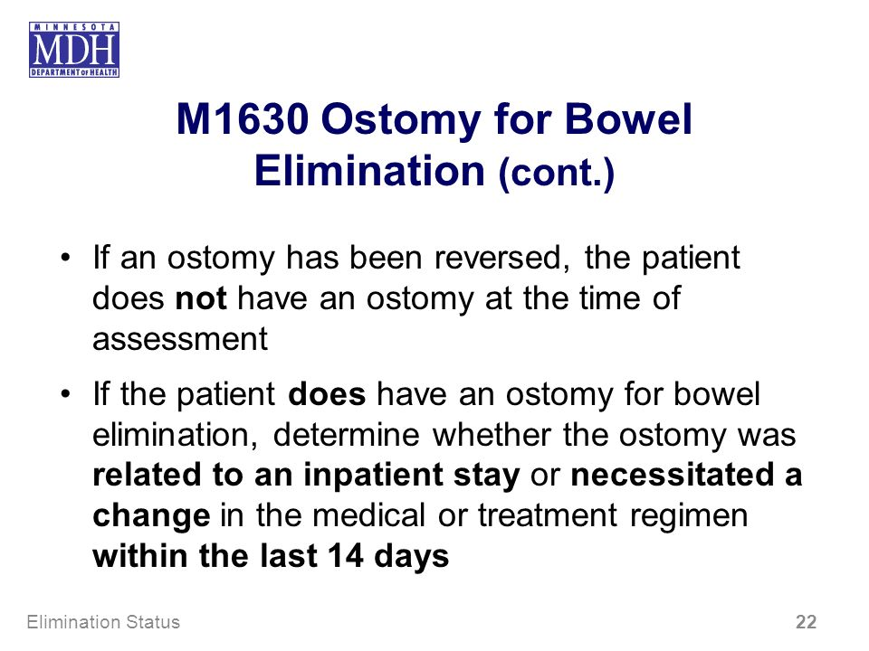 M1630 Ostomy for Bowel Elimination (cont.)