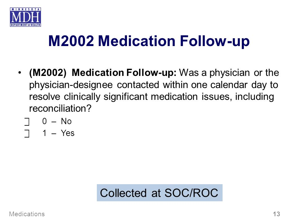 M2002 Medication Follow-up