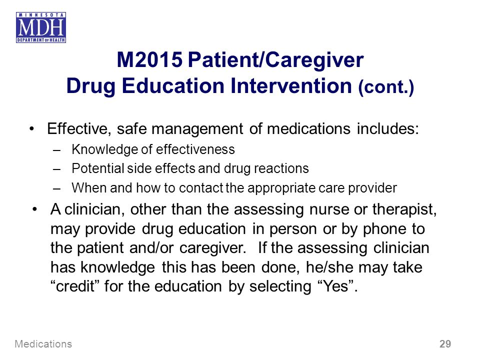 M2015 Patient/Caregiver Drug Education Intervention (cont.)