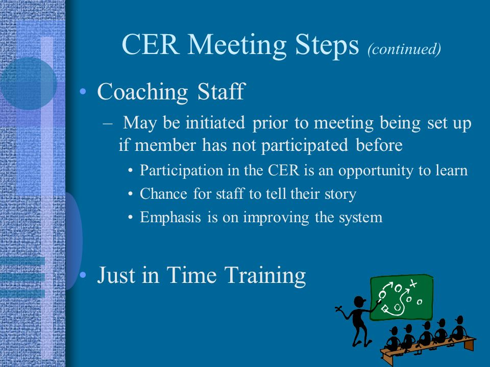 CER Meeting Steps (continued)