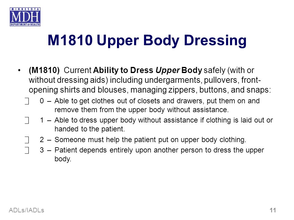 M1810 Upper Body Dressing
