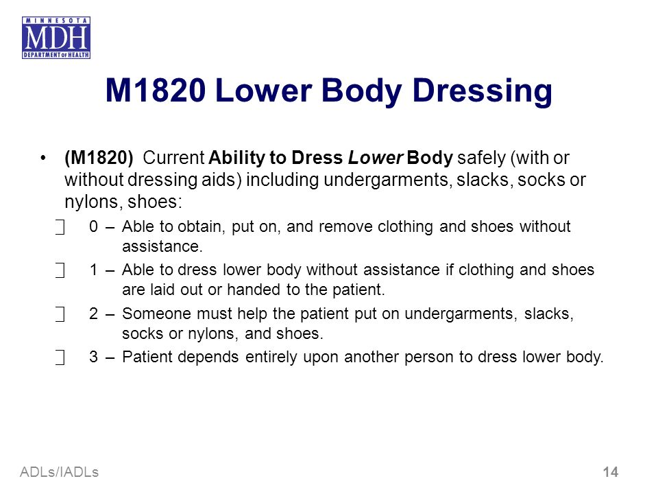 M1820 Lower Body Dressing