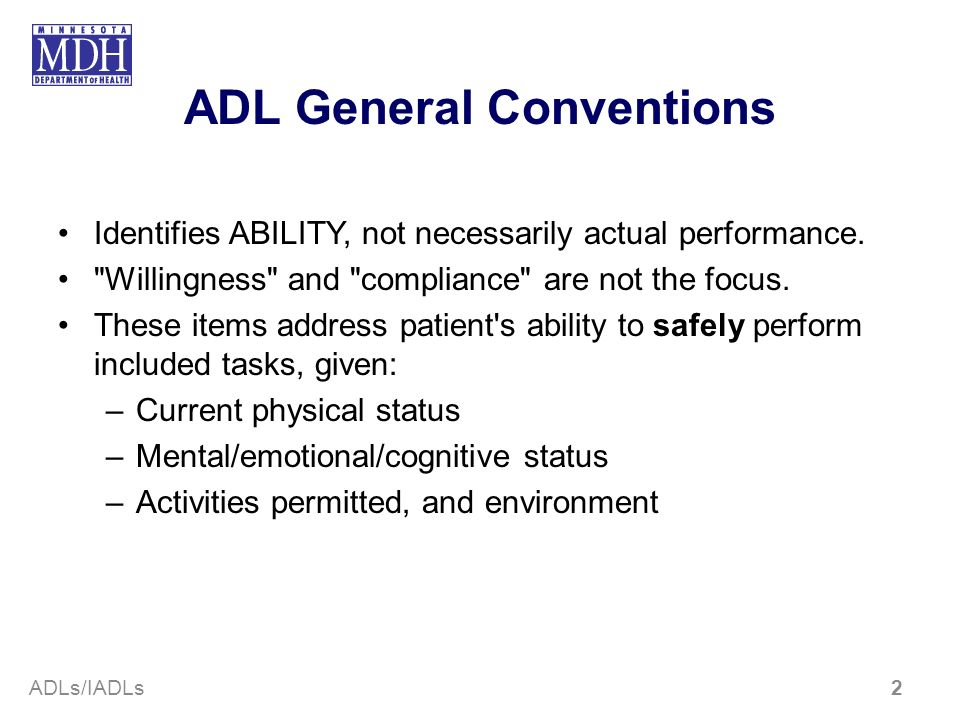 ADL General Conventions