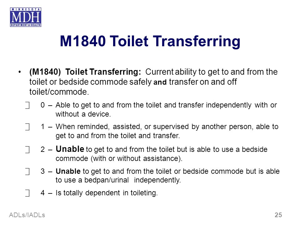 M1840 Toilet Transferring