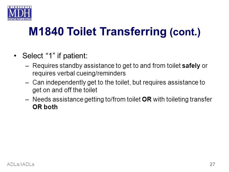 M1840 Toilet Transferring (cont.)