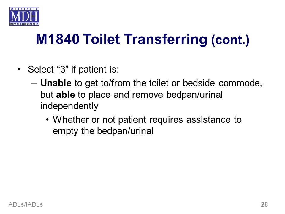 M1840 Toilet Transferring (cont.)