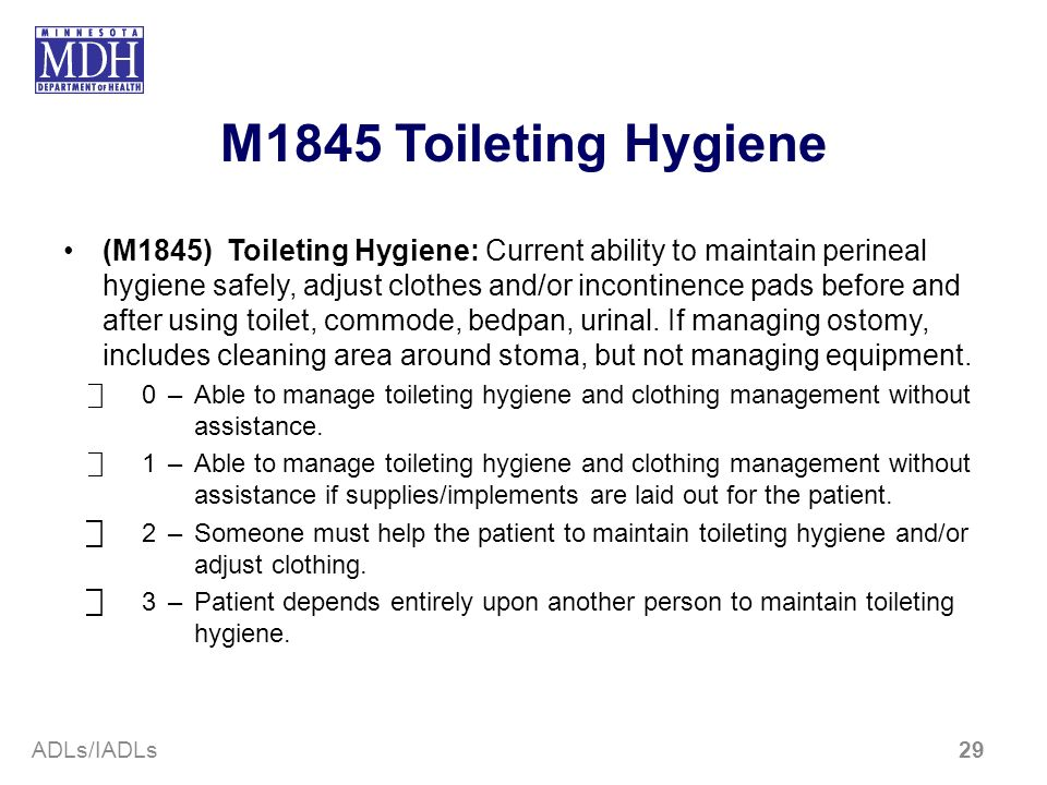 M1845 Toileting Hygiene