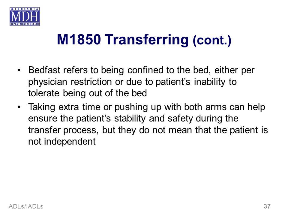 M1850 Transferring (cont.)
