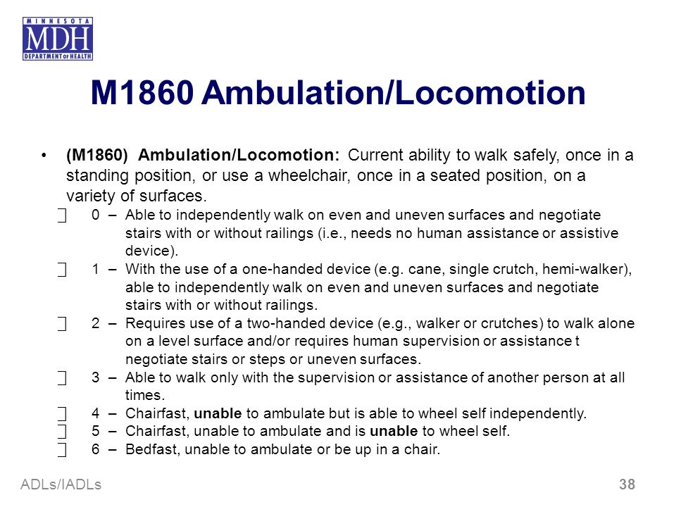M1860 Ambulation/Locomotion
