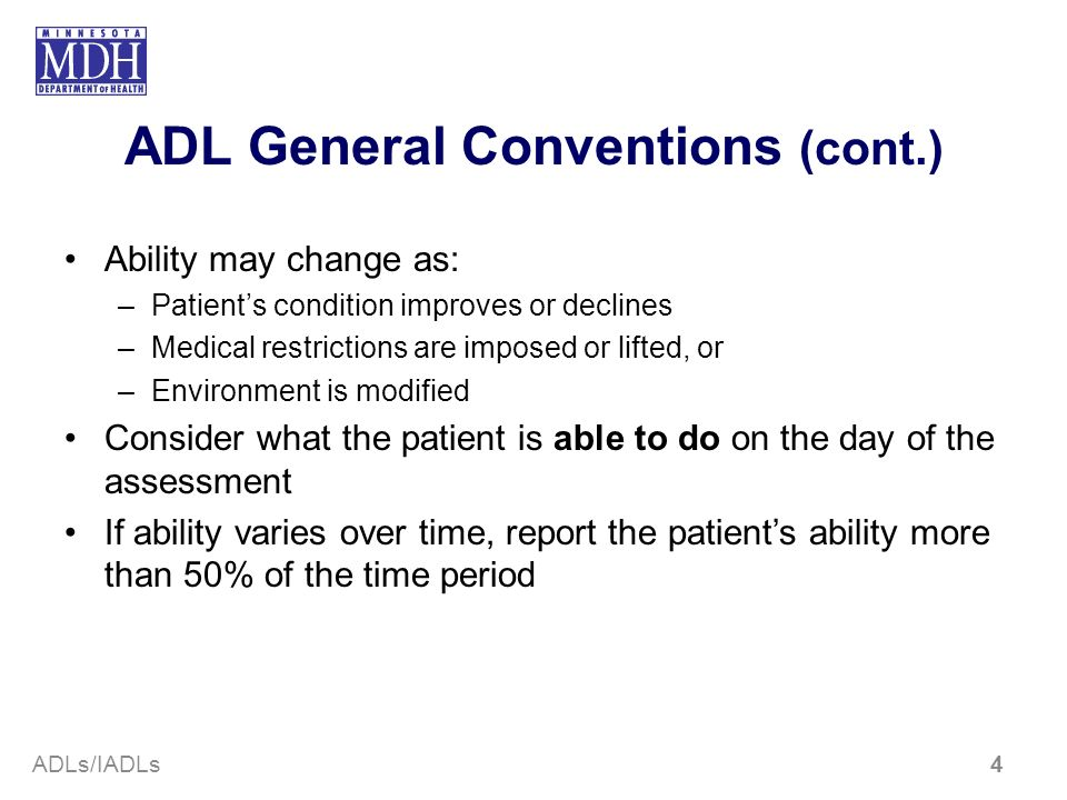 ADL General Conventions (cont.)
